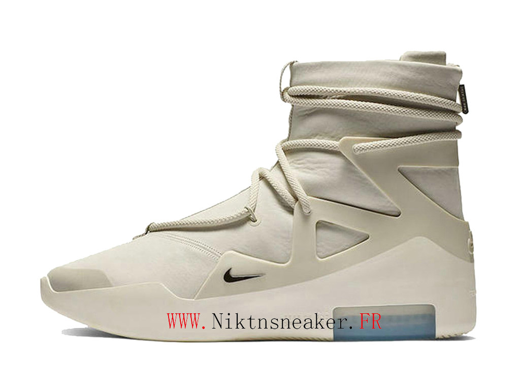 2020 Nike Air Fear Of God 1 Light White / Black Blue Men ́s Nike Basketball Shoes AR4237-002