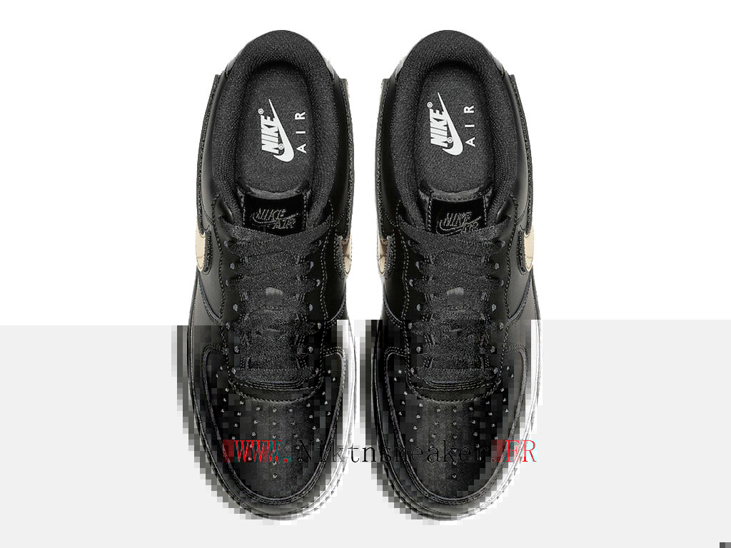 2020 Nike Air Force 1 07 Lv8 Gold / Black Men ́s Nike Basketball Shoes CT2252-001