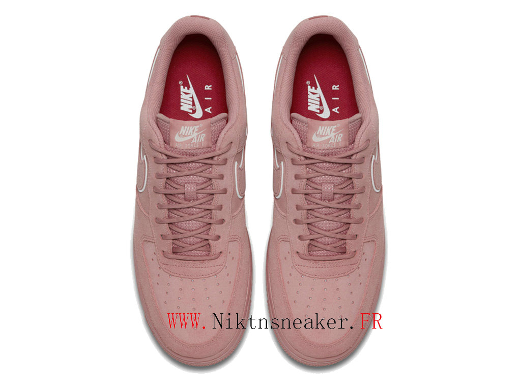 2020 Nike Air Force 1 07 LV8 Pink / White Women ́s Nike Basketball Shoes AA1117 601