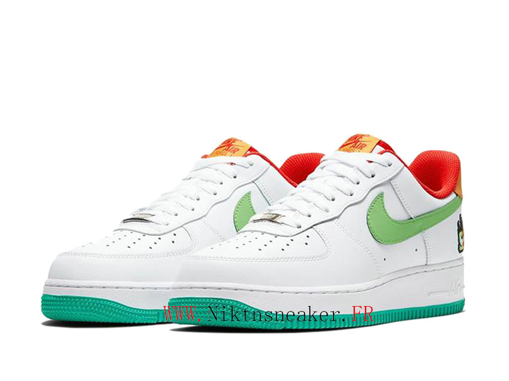 2020 Nike Air Force 1 AF1 Green / White Red Men ́s Women ́s Nike Basketball Shoes CT1251-006