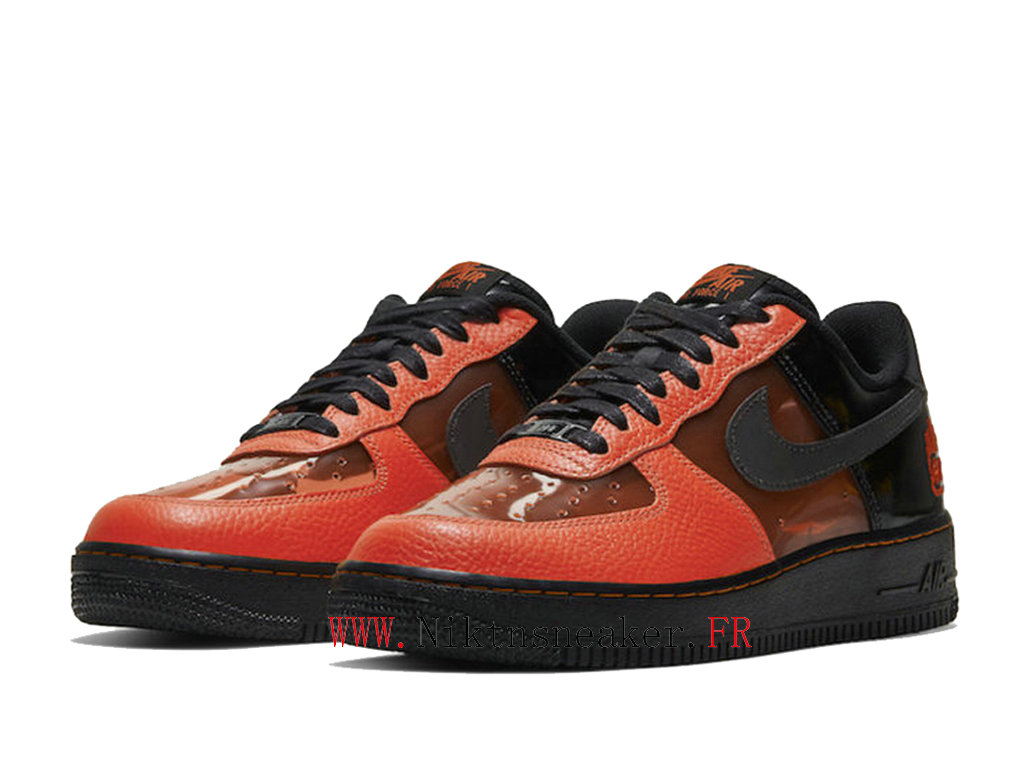 nike air force 1 femme noir et orange