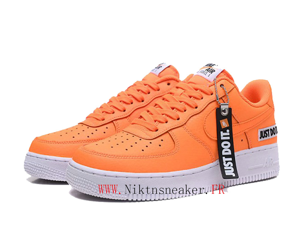 2020 Nike Air Force 1 Low Just Do It Orange / White Men ́s Nike Basketball Shoes BQ5360-800