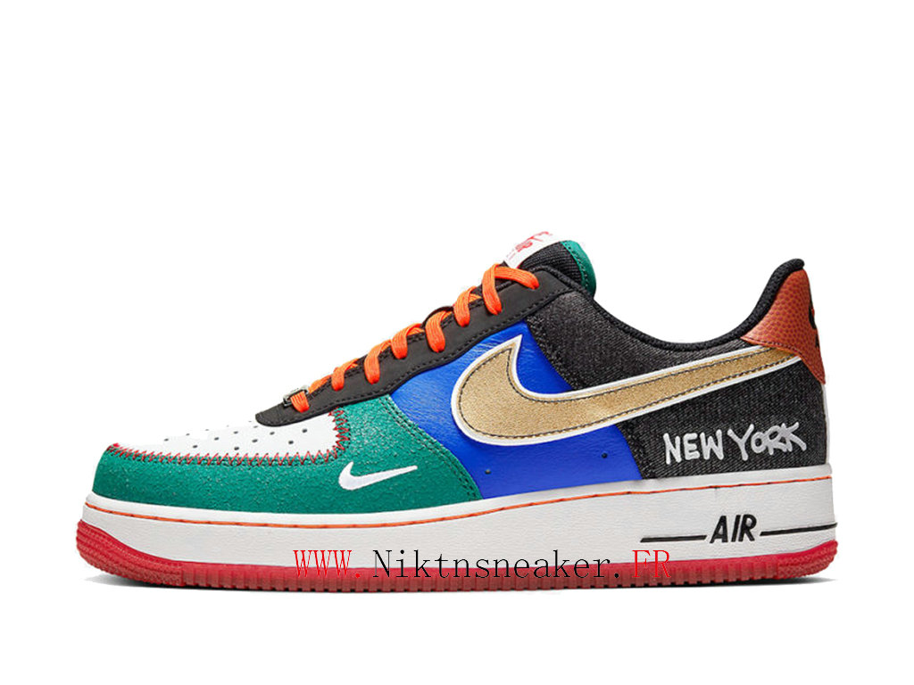 2020 Nike Air Force 1 Low NYC Black / White Red Men ́s Women ́s Nike Basketball Shoes CT3610-100