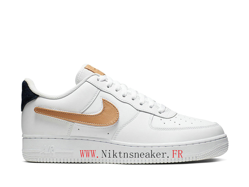 2020 Nike Air Force 1 Low Or / Blanc Chaussures De Basket Pas Cher Pour Homme CT2253-100