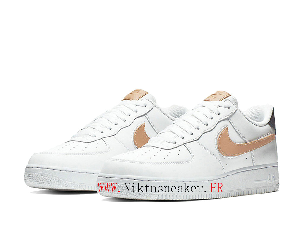 2020 Nike Air Force 1 Low Gold / White Men ́s Nike Basketball Shoes CT2253-100