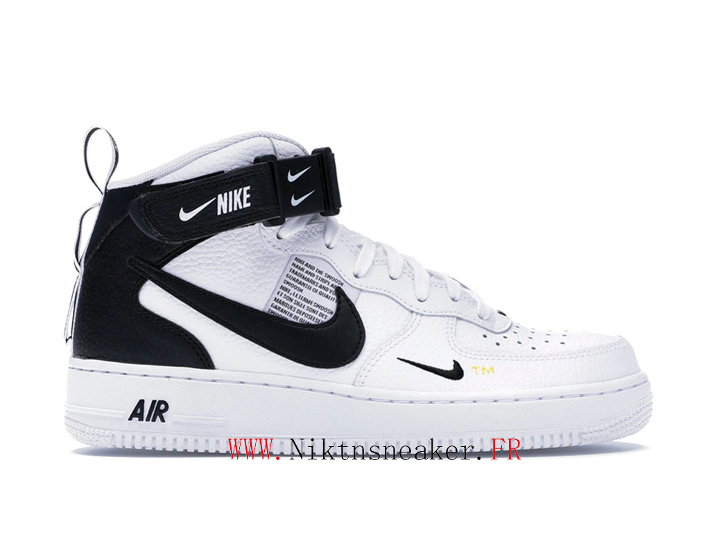 2020 Nike Air Force 1 Mid Utility Black / White Men ́s Nike Basketball Shoes 804609-103 40 46