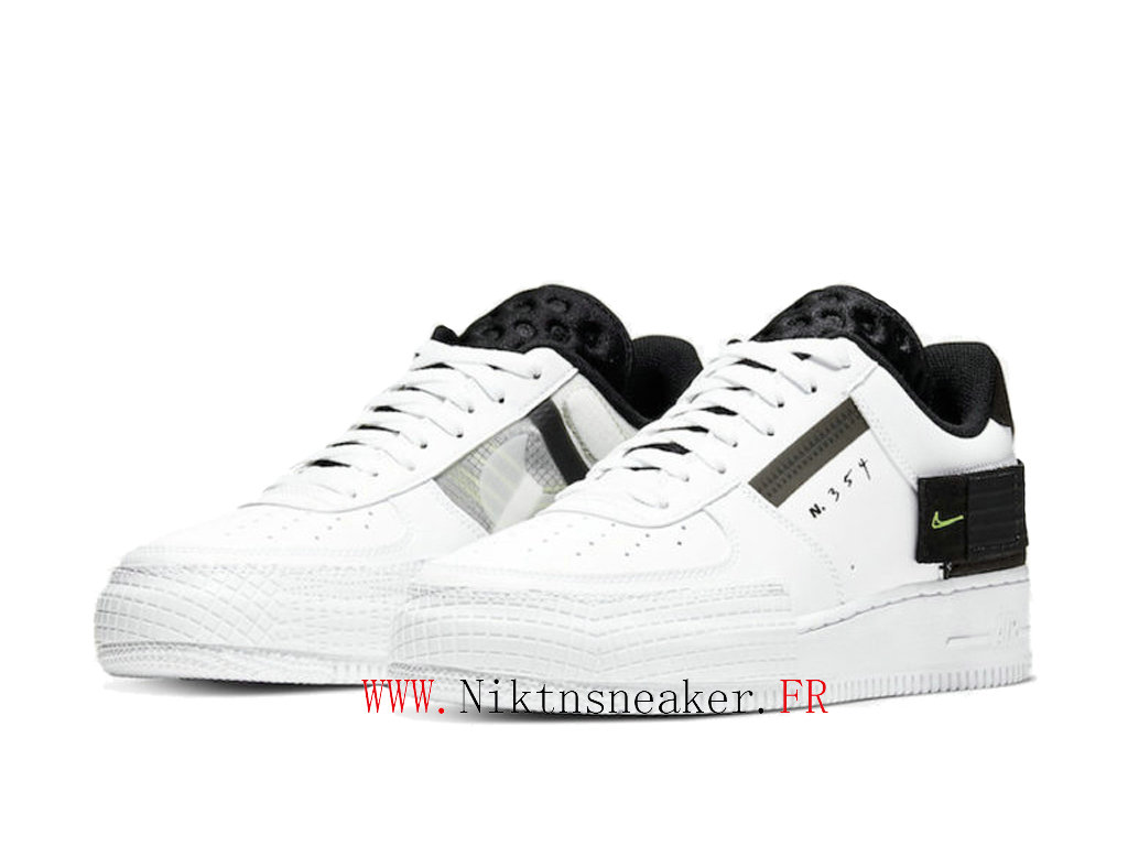 2020 Nike Air Force 1 Type Black / White Men ́s Women ́s Nike Basketball Cheap Shoes AT7859-101