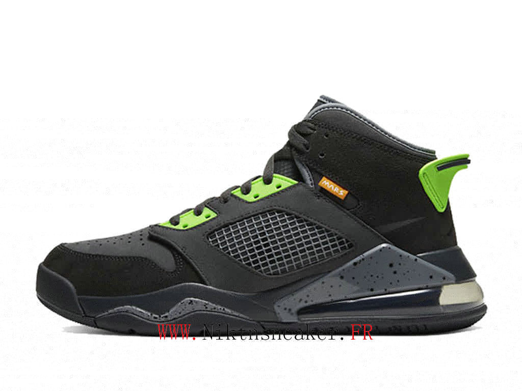 2020 Nike Air Jordan Mars 270 Black / Green Gray CT9132 001 Men ́s Cheap Basketball Running Shoe For