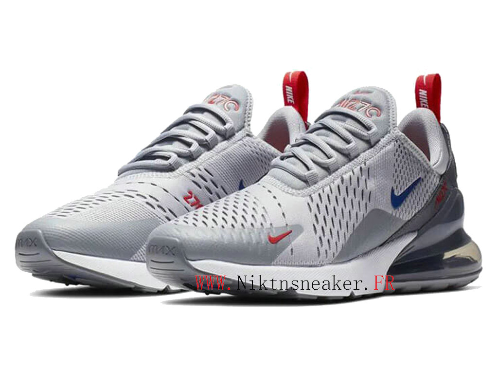 2020 Nike Air Max 270 White / Blue / Gray CD7338-001 Running Shoes Cushion Cheap Men ́s Women ́s