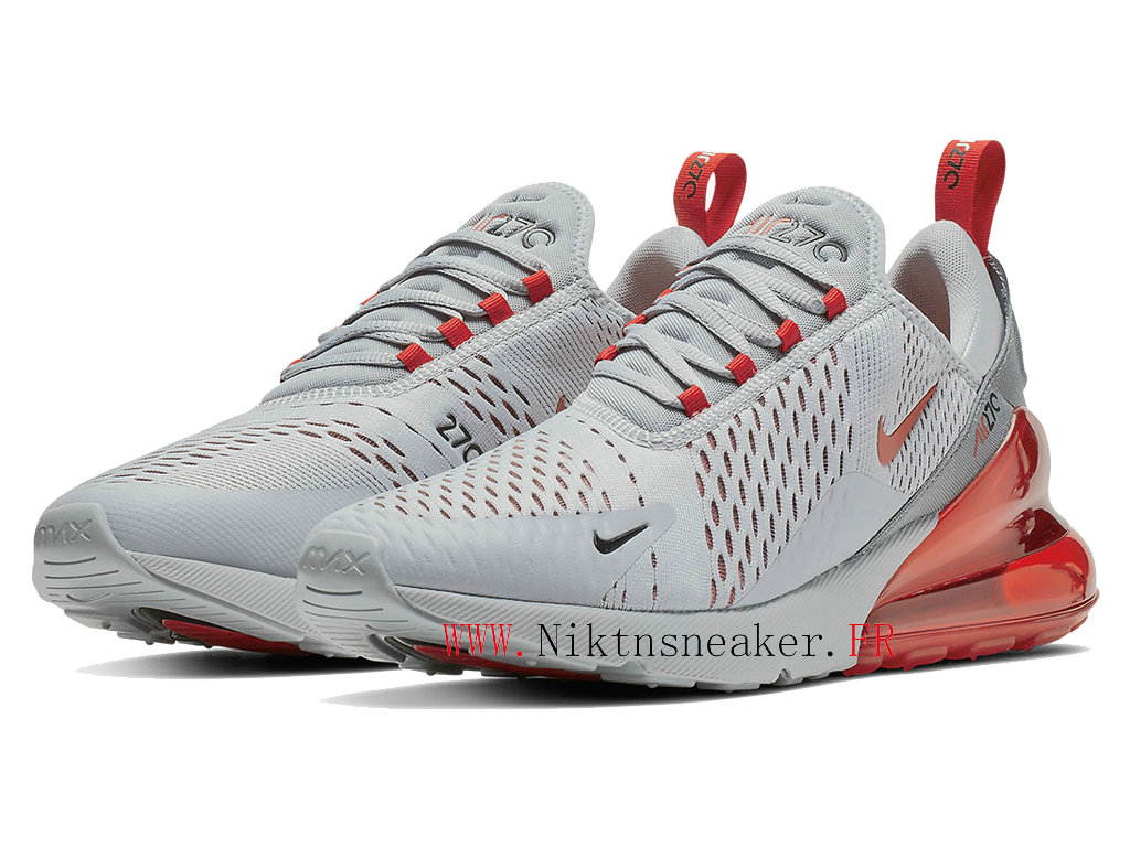 2020 Nike Air Max 270 Gray / Red AH8050-018 Running Shoes Cushion Cheap Men ́s