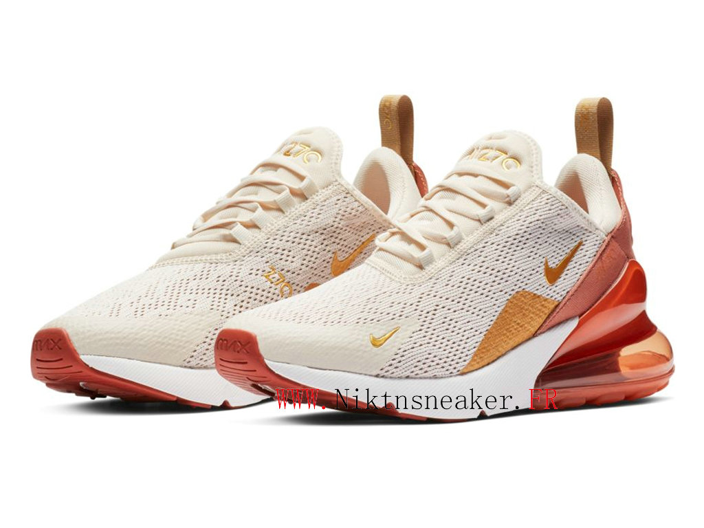 2020 Nike Air Max 270 Gs White / Gold AH6789-203 Men ́s Women ́s Running Shoes Cushion Cheap