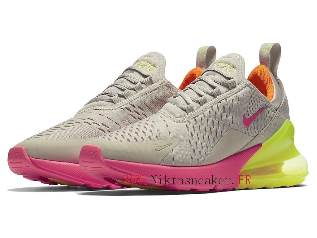 2020 Nike Air Max 270 Gs Pink / Gray / Green AH6789-005 Running Shoes Cushion Cheap Women ́s