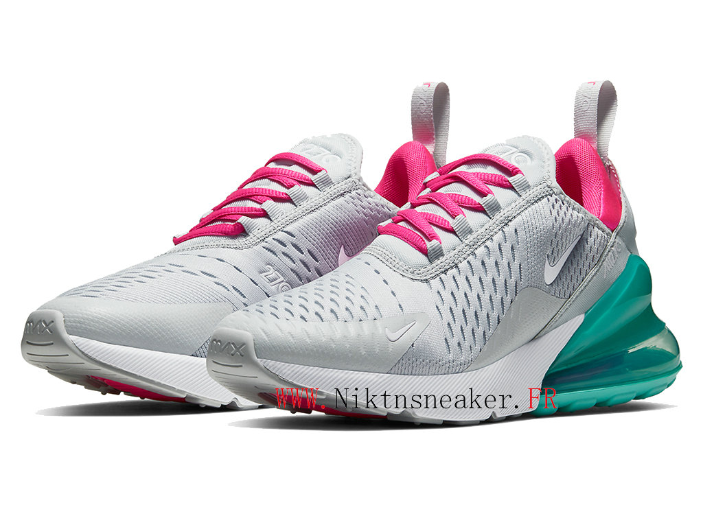2020 Nike Air Max 270 Gs Green / Gray / Pink White AH6789-065 Running Shoes Cushion Cheap Women ́s