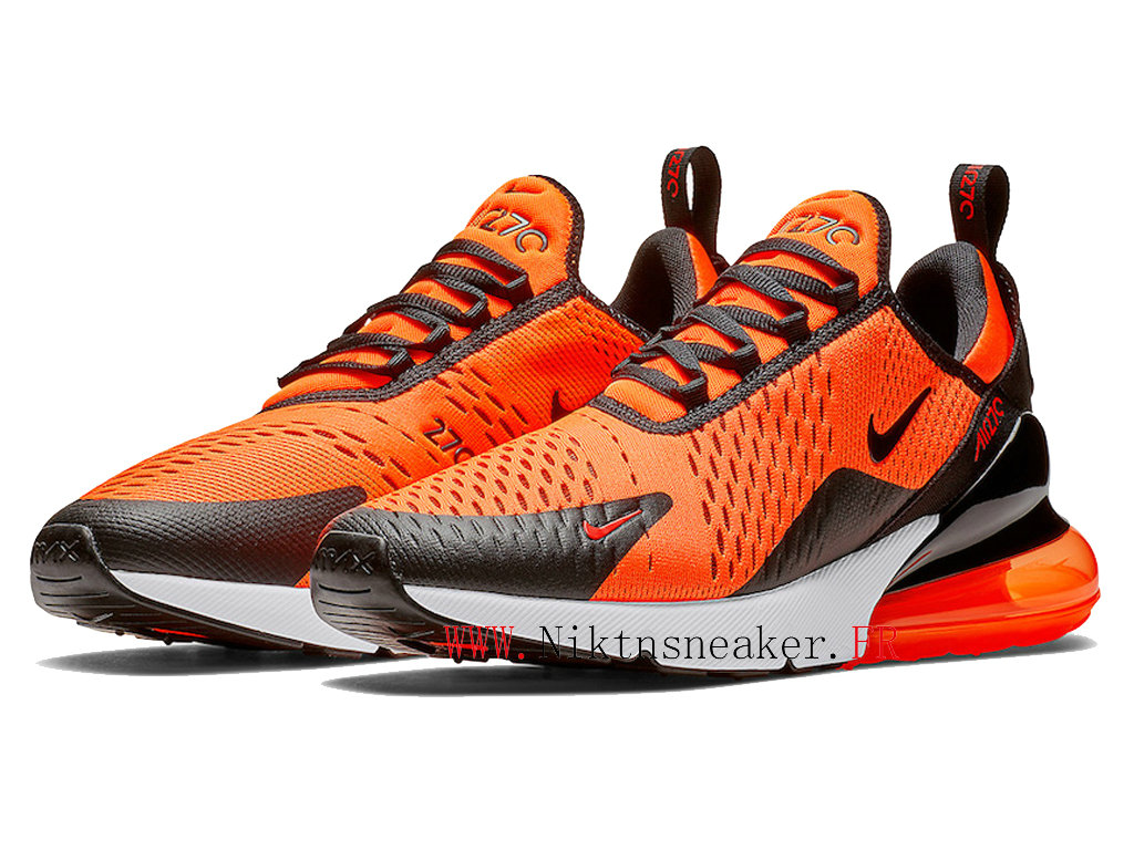 2020 Nike Air Max 270 Black / White Orange BV2517-800 Running Shoes Cushion Cheap Men ́s Women ́s