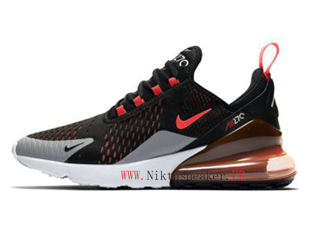 2020 Nike Air Max 270 Black / White / Red AH8050-015 Running Shoes Cushion Cheap Men ́s
