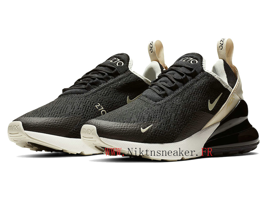 2020 Nike Air Max 270 Black / Gray / White AH6789-010 Running Shoes Cushion Cheap Men ́s Women ́s