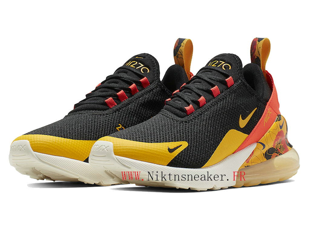 2020 Nike Air Max 270 Black / Yellow White AR0499-005 Running Shoes Cushion Cheap Men ́s Women ́s