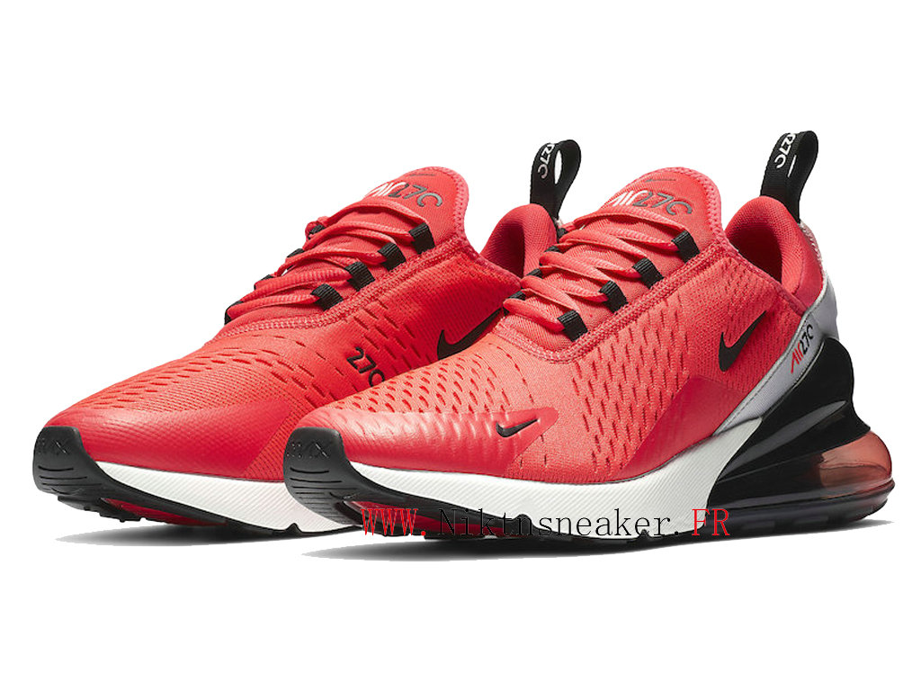 2020 Nike Air Max 270 Black / Red White BV6078-600 Men ́s Running Shoes Cushion Cheap
