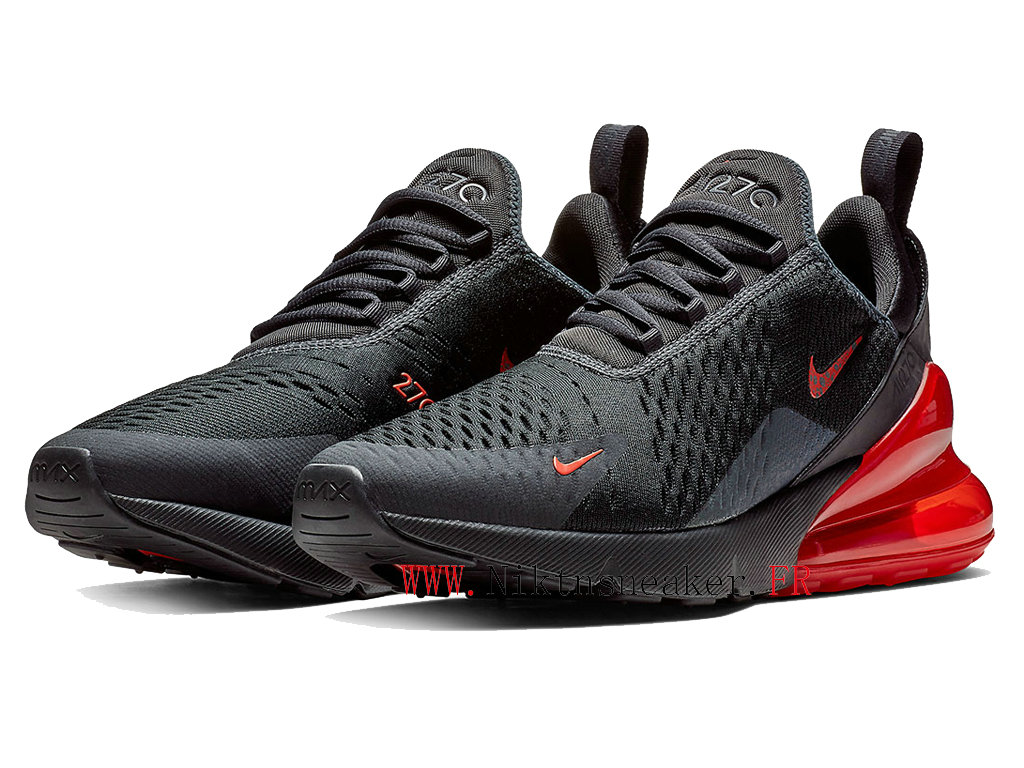2020 Nike Air Max 270 Black / Red BQ6525-001 Men ́s Running Shoes Cushion Cheap