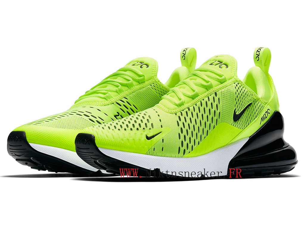 2020 Nike Air Max 270 Black / Green / White AH8050-701 Running Shoes Cushion Cheap Men ́s Women ́s