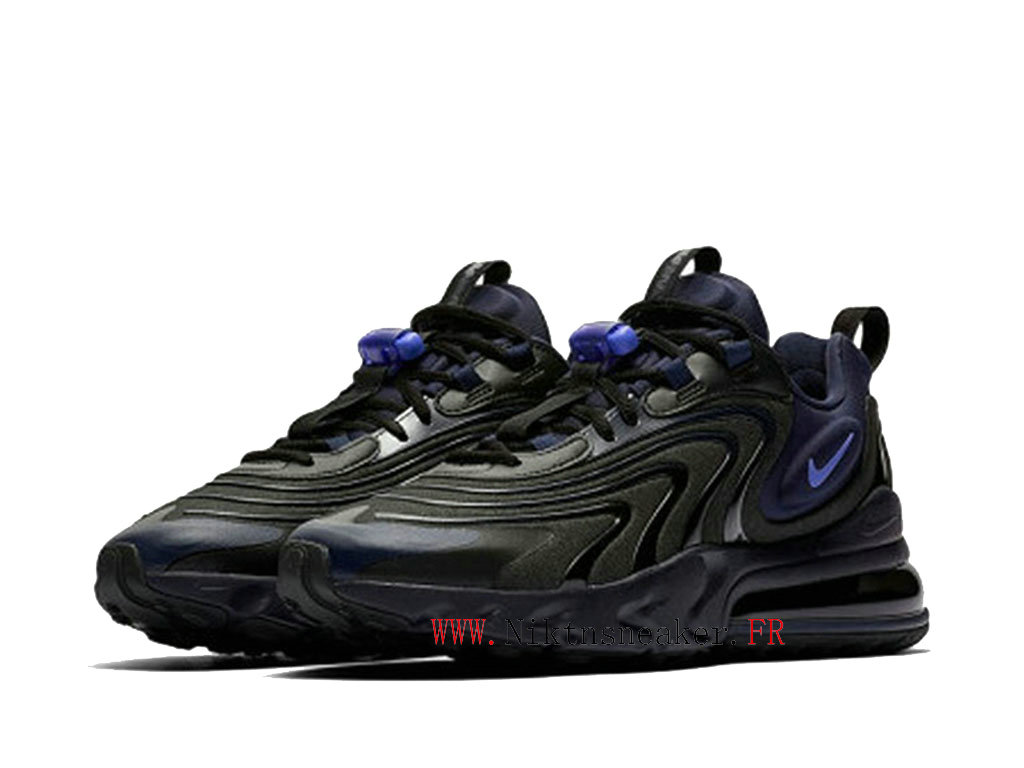 2020 Nike Air Max 270 React ENG Black / Purple CD0113 001 Running Shoes Cushion Cheap Men ́s