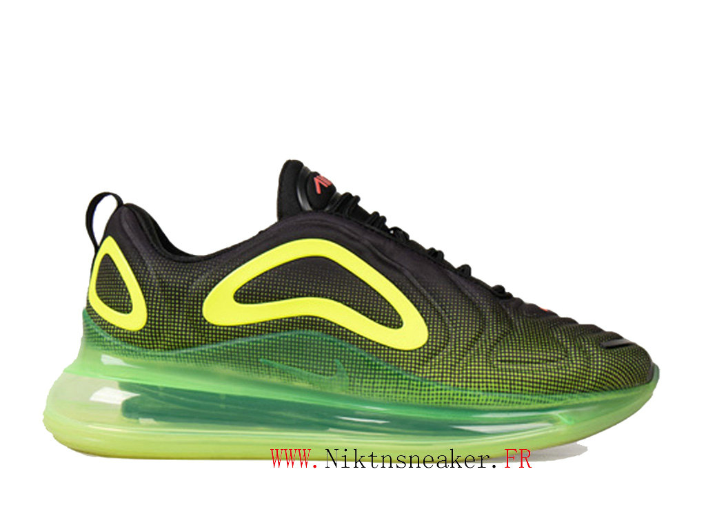 2020 Nike Air Max 720 Black / Prairie Green Men ́s Women ́s Nike Cheap Running Shoes For AO2924-008