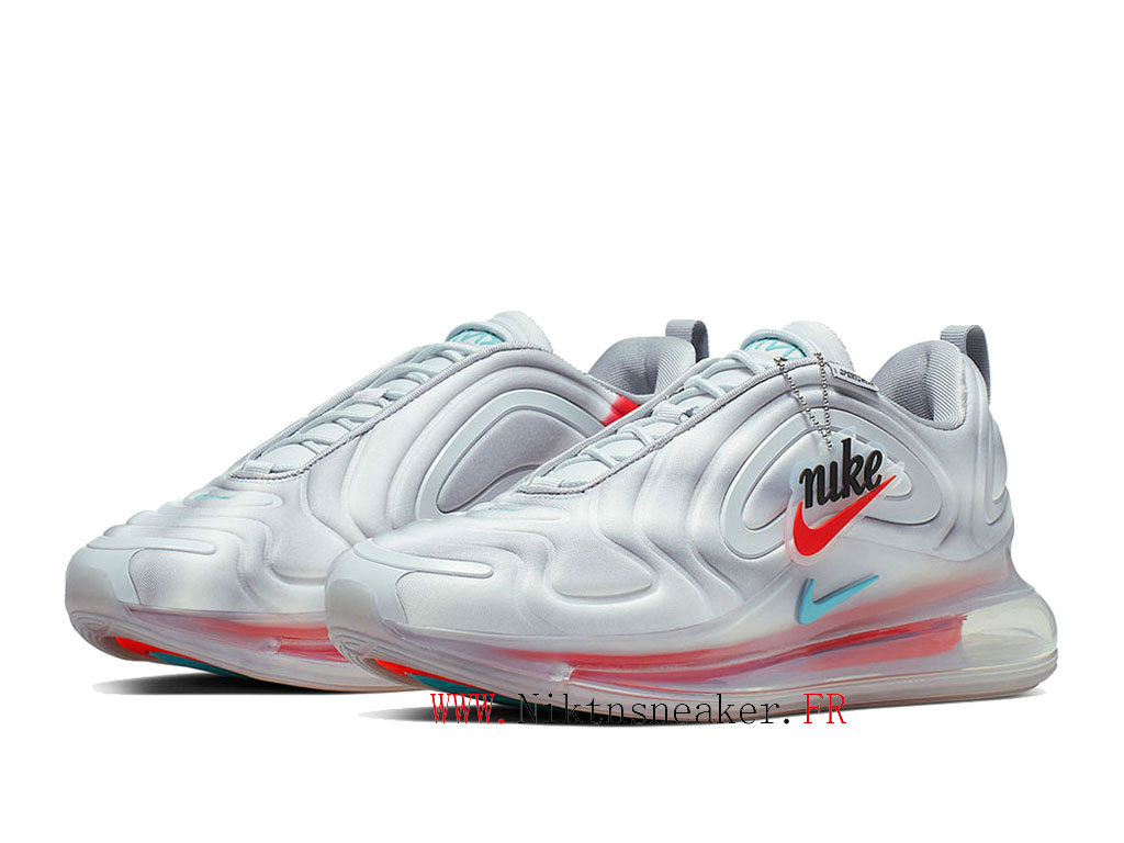 2020 Nike Air Max 720 White / Gray / Red Men ́s Women ́s Nike Cheap Running Shoes For AO2924-011