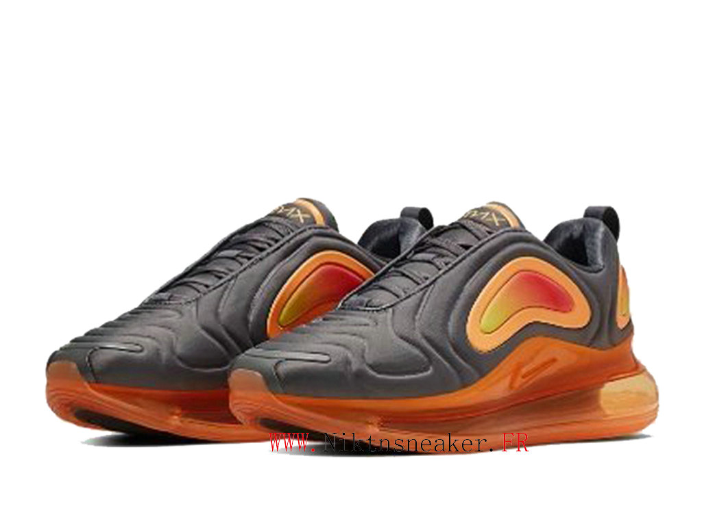 2020 Nike Air Max 720 Gray / Orange Men ́s Cheap Running Shoes For AO2924-006