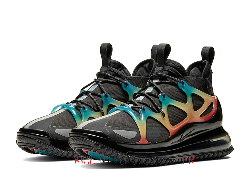 2020 Nike Air Max 720 Horizon Black / Yellow / Blue Shoes Dair Cushion For Cheap Men ́s BQ5808-003