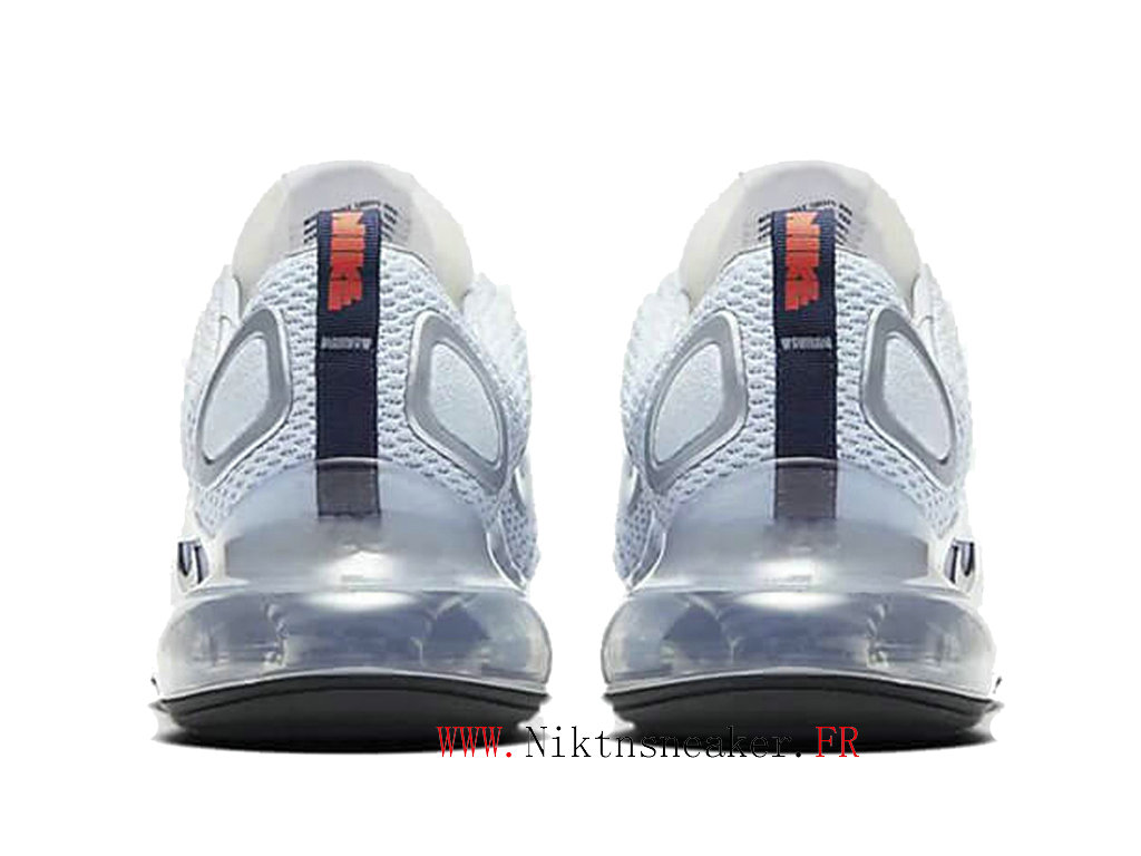 2020 Nike Air Max 720 Black / White / Sky Blue Men ́s Running Shoes Cheap CK5033 400