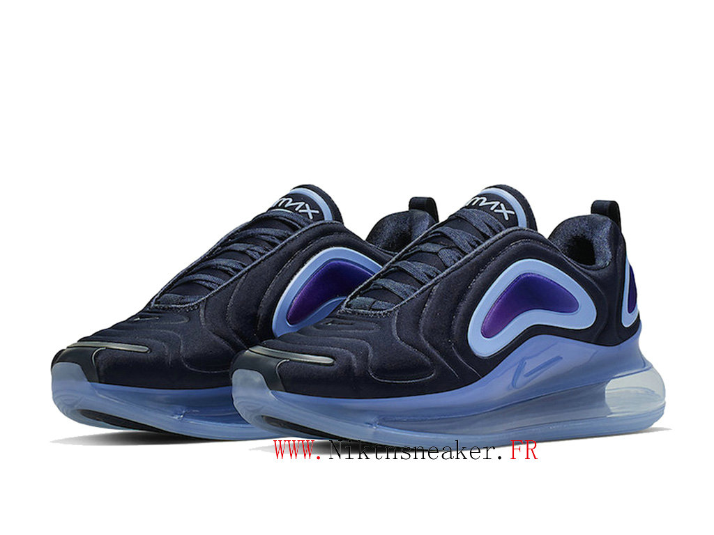 2020 Nike Air Max 720 Black / Blue Men ́s Cheap Running Shoes For AO2924-402
