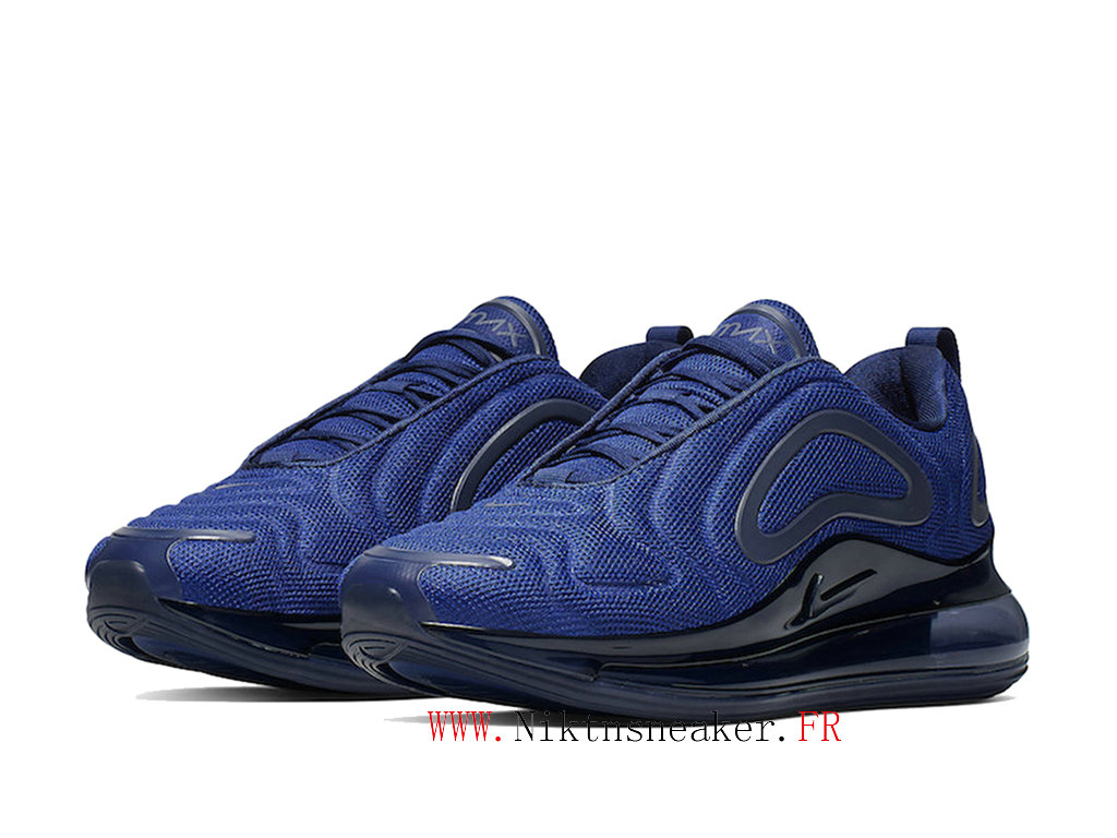2020 Nike Air Max 720 Black / Dark Blue Men ́s Cheap Running Shoes For AO2924 403