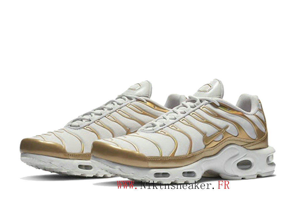 2020 Nike Air Max Plus Tn White / Gold 605112-054 Cheap Sportswear Shoes For Men ́s
