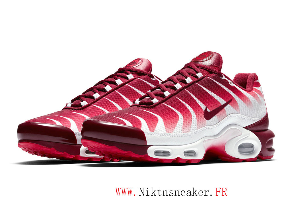 2020 Nike Air Max Plus TN White / Red Universite AQ0237-101 Men ́s Basketball Shoes Cheap Price
