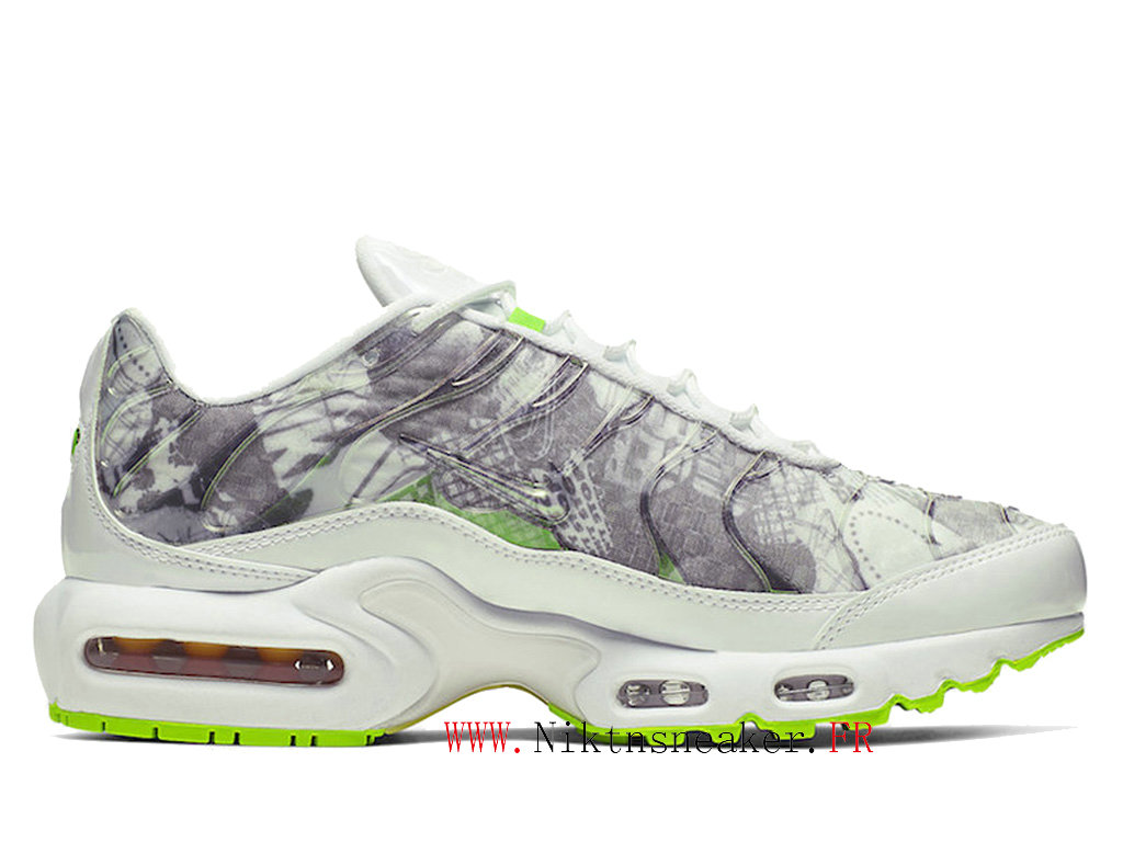 2020 Nike Air Max Plus Tn LX White / Gray / Green BQ4803-100 Basketball Shoes Cheap Price Men