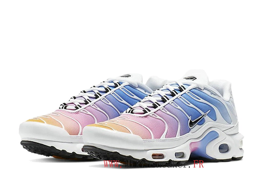 2020 Nike Air Max Plus Tn Black / White / Blue 605112-115 Women ́s Cheap Sportswear Shoes For