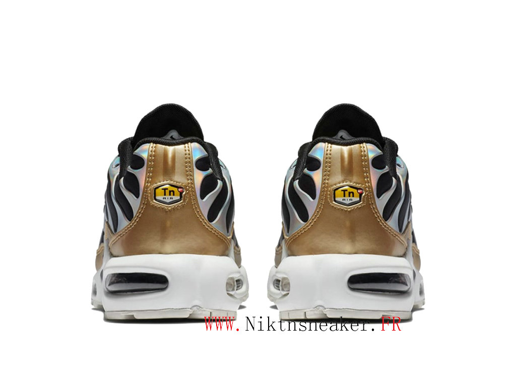2020 Nike Air Max Plus Tn Black / White / Gold 605112-055 Men ́s Cheap Sportswear Shoes For