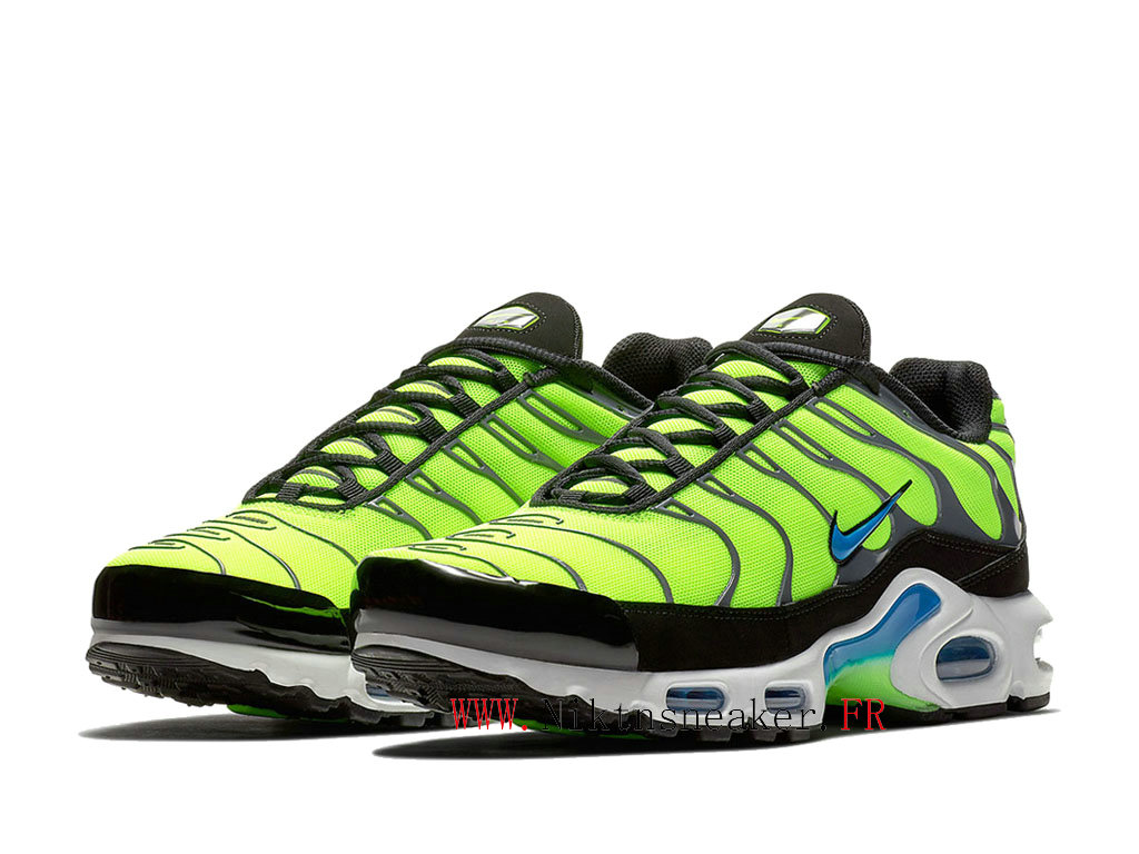 2020 Nike Air Max Plus Tn Black / Blue / Green 852630-700 Men ́s Cheap Sportswear Shoes For