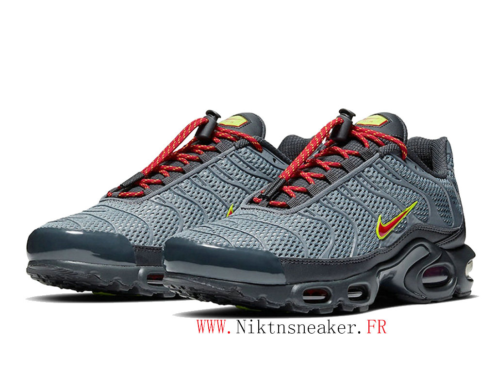 2020 Nike Air Max Plus Tn Black / Gray / Red CQ6359-002 Men ́s Basketball Price Cheap Shoes