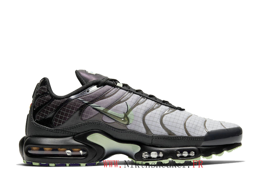 2020 Nike Air Max Plus Tn Black / Gray / Green CT1619-001 Men ́s Sportswear Cheap Shoes
