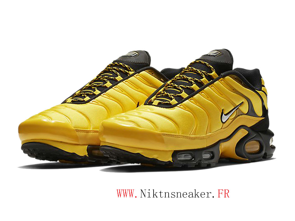 2020 Nike Air Max Plus Tn Black / Yellow / White AV7940-700 Basketball Shoes Cheap Price Men ́s