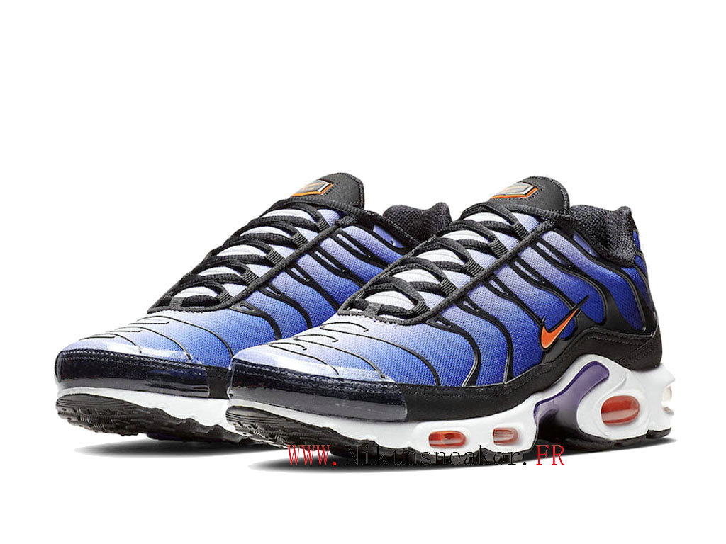 2020 Nike Air Max Plus Tn OG Black / White / Blue BQ4629-002 Men ́s Sportswear Cheap Shoes