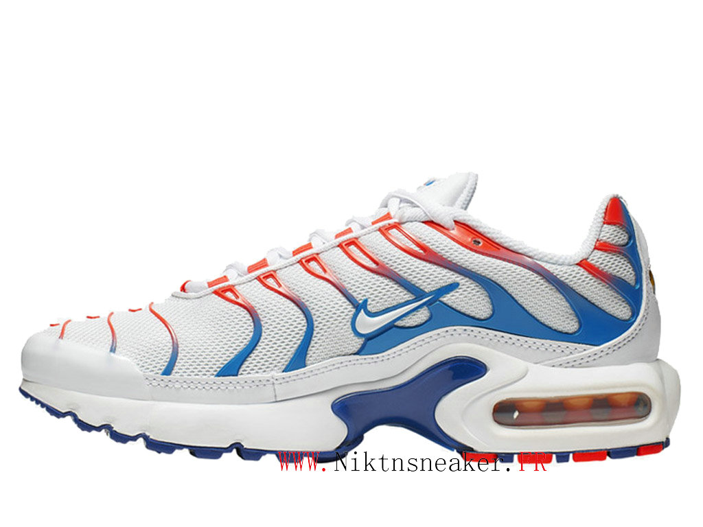 2020 Nike Air Max Plus Tn Orange / White / Blue CQ9893-400 Men ́s Sportswear Cheap Shoes