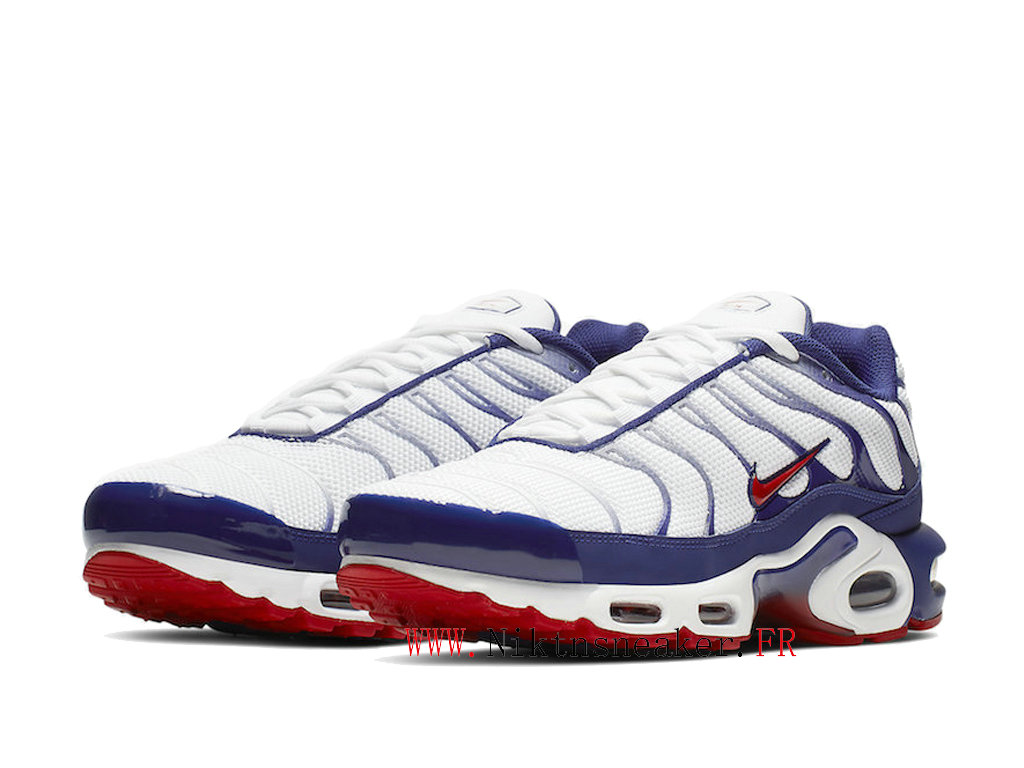 2020 Nike Air Max Plus Tn Red / White Blue CJ9928-100 Men ́s Sportswear Cheap Shoes