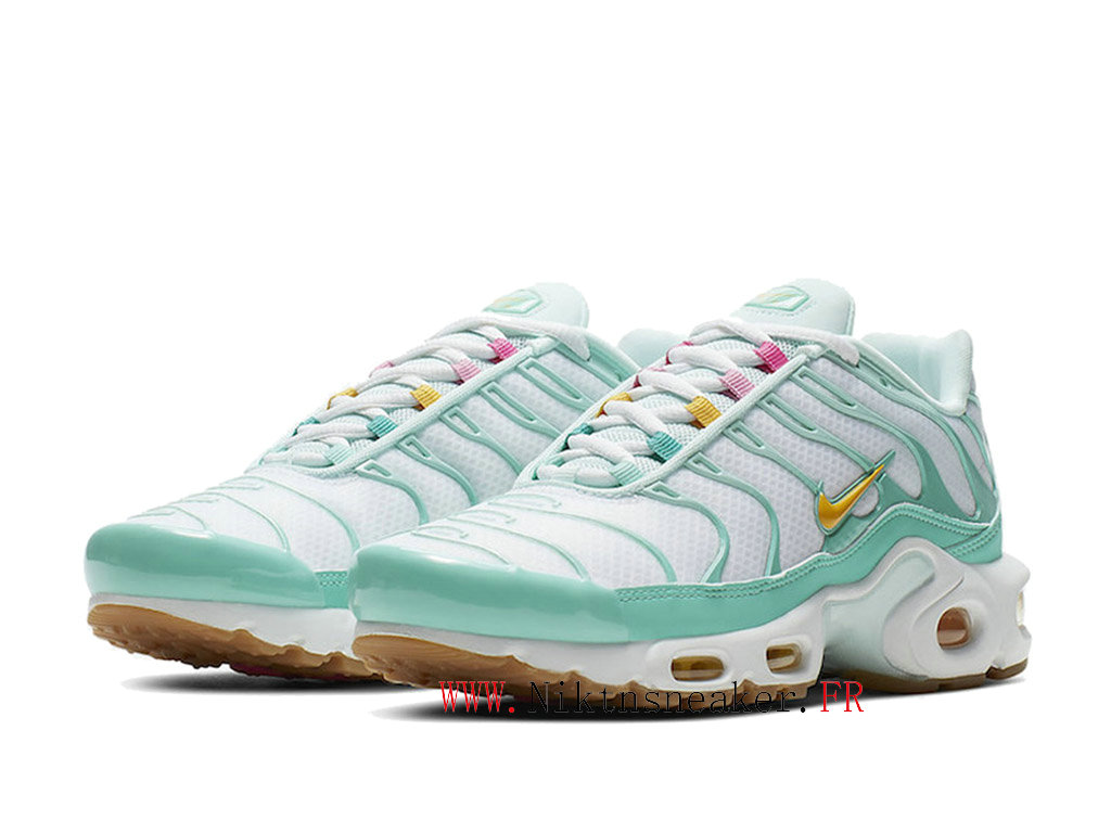 2020 Nike Air Max Plus TN SE White / Blue Yellow CJ9925 300 Women ́s Sportswear Cheap Shoes