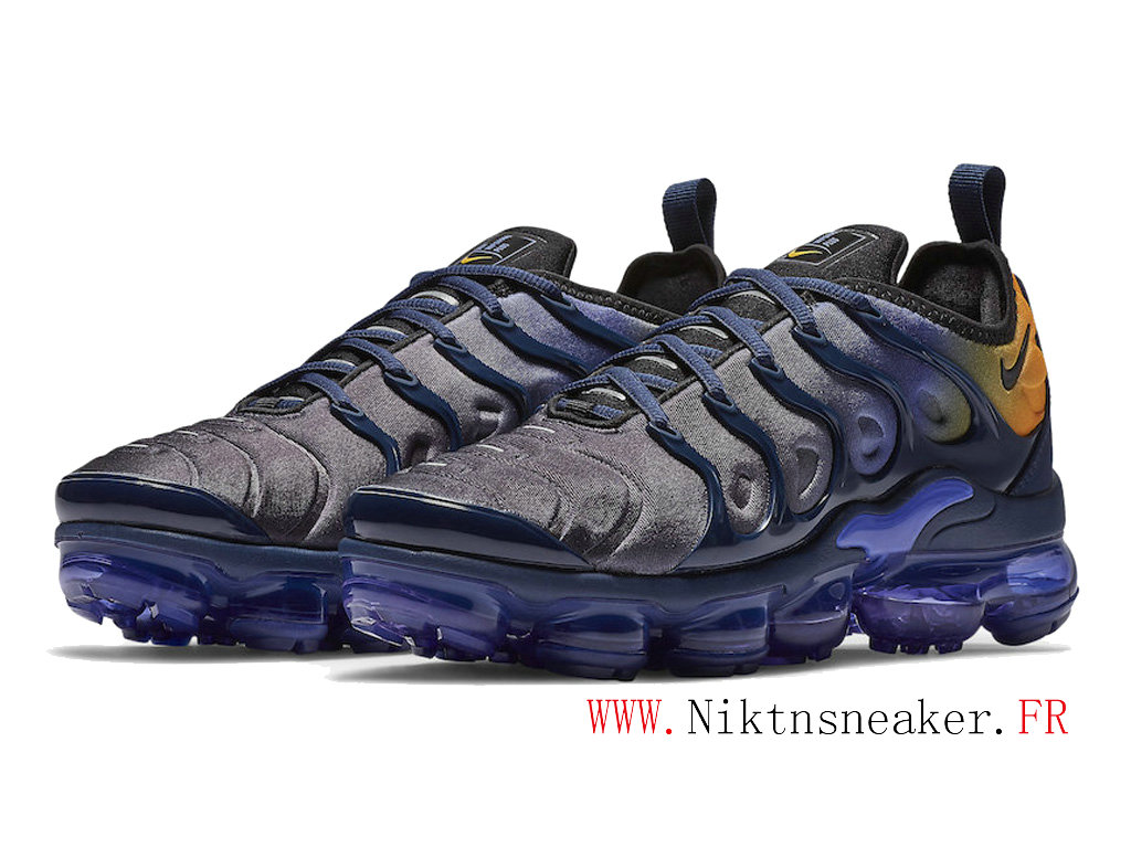 2020 Nike Air Max Vapormax Plus Blue-Purple / Yellow AO4550-500 Cushion Dair Men ́s Cheap Shoes