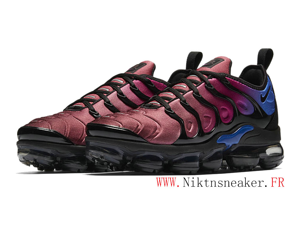 2020 Nike Air Max Vapormax Gs Plus Black / Blue / Grape Red AO4550-001 Air Cushion Women ́s Cheap Shoes