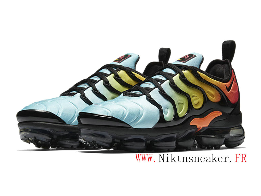 2020 Nike Air Max Vapormax Plus Black / Blue / Orange AO4550-002 Cushion Dair Men ́s Cheap Shoes
