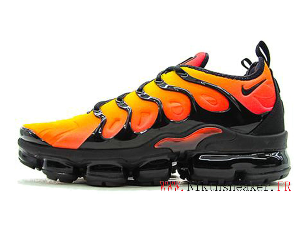 2020 Nike Air Max Vapormax Plus Black / Orange 924453-051 Men´s Air Cushion Cheap Shoe