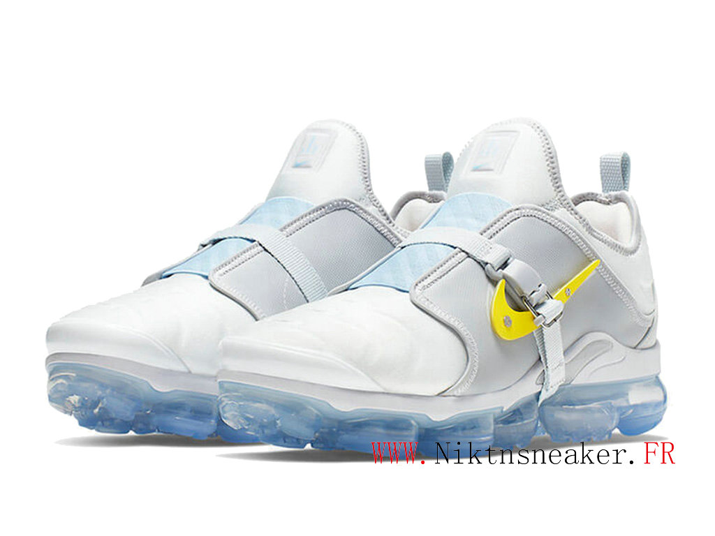 2020 Nike Air VaporMax Plus White / Blue Yellow CI1506-001 Cushion Dair Men ́s Cheap Shoes Women ́s
